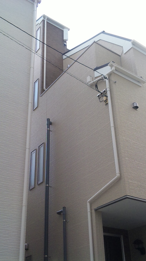 東京都大田区にてアンテナ工事