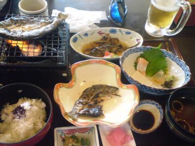 21岩魚とアマゴの一夜干し定食