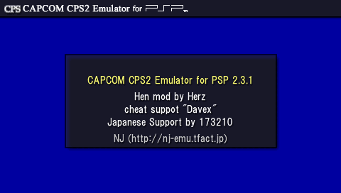 Unofficial CAPCOM CPS2 Emulator for PSP