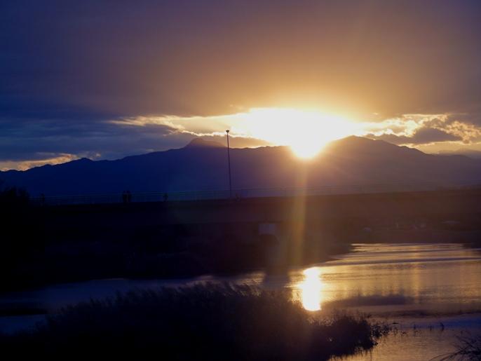 20121002入間川の夕景2