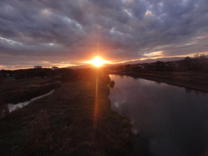 20121002入間川の夕景