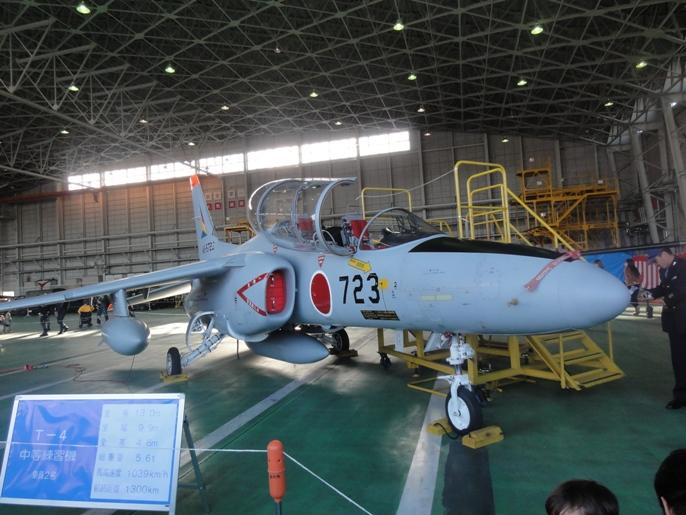 2012入間基地航空ショー 展示 航空機ー9-1練習機T-4