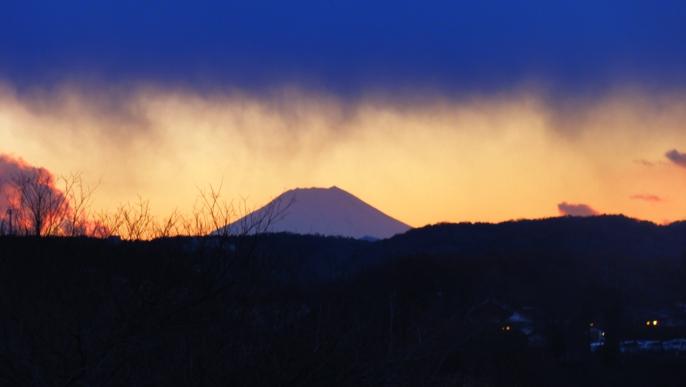20121212夕景 富士A