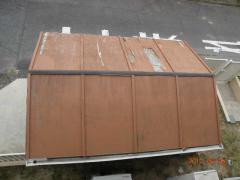 6.5バイクガレージ屋根葺き替え 006