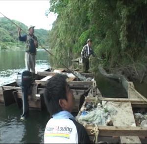 ホタル舟河川清掃-1