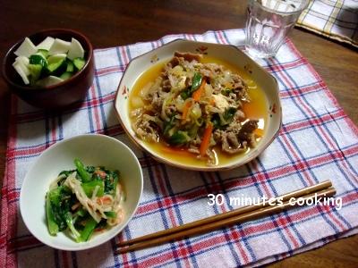 肉豆腐DE晩御飯