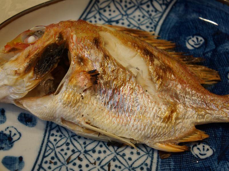 蓮小鯛の塩焼き