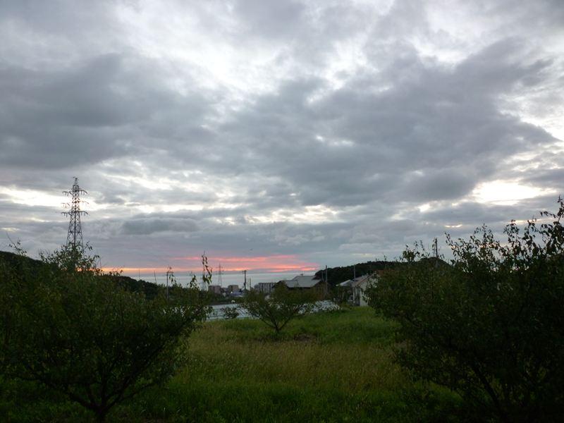 10月1日の朝の景色