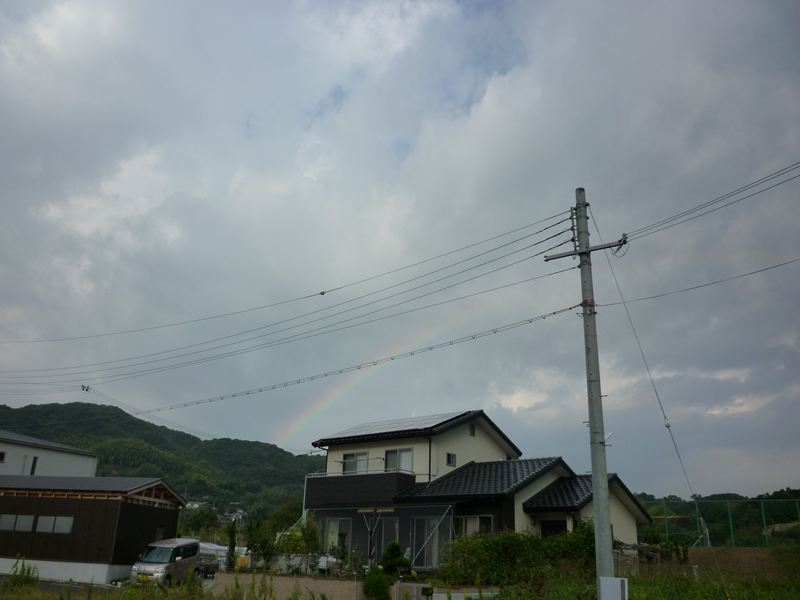 10月11日朝の虹