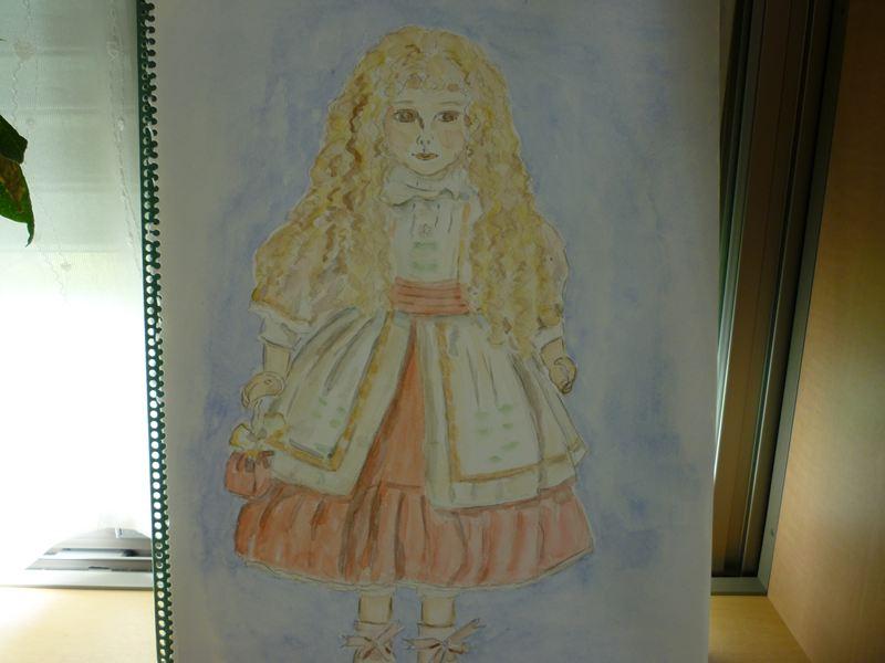 昨日描いた人形