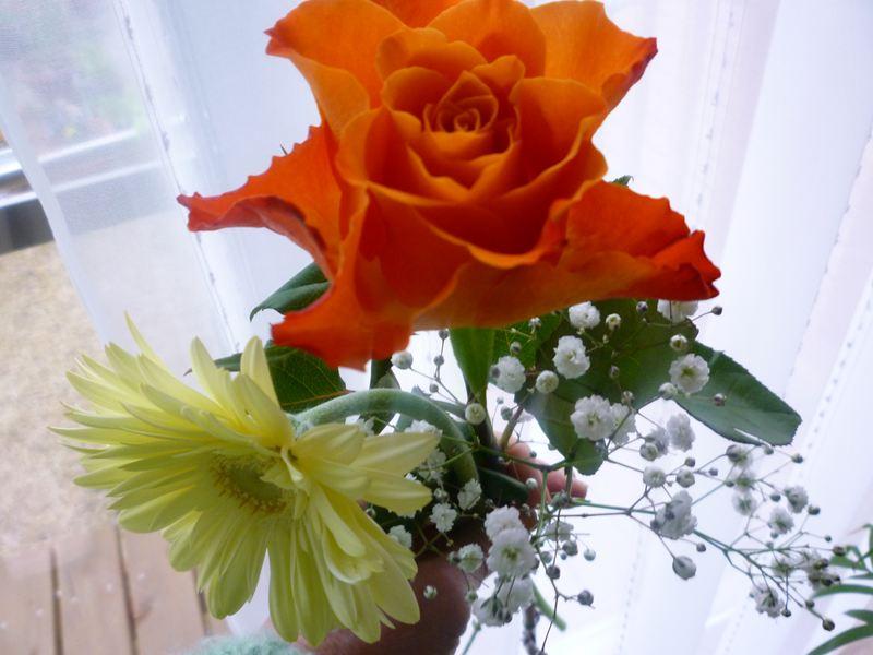 卒業で頂いた花