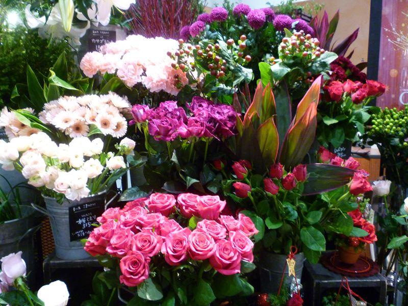 三宮センター街の花屋