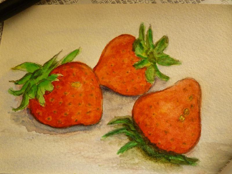 イチゴの絵