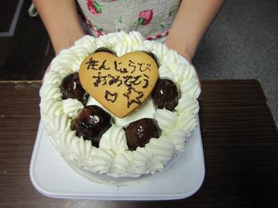 楽しいお誕生日を・・・。