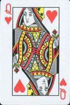 ハート絵札Queen画像トランプ