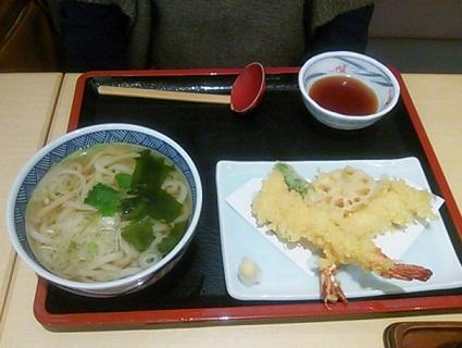 天ぷらと うどんセット