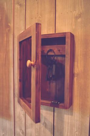 ガラス扉のキーボックス (2)