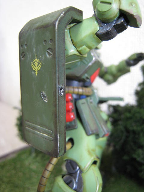 オガモデル用ザク盾MG