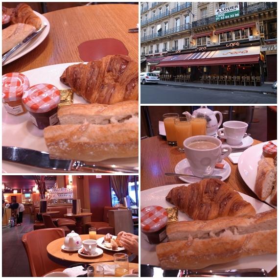 朝のカフェ