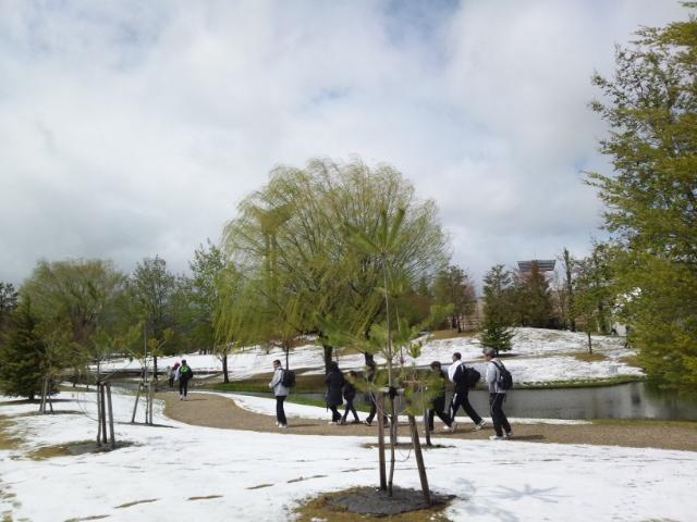 雪の南長野運動公園