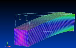 四角柱のFEM解析(対策前)
