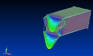 四角柱のFEM解析(対策後)