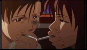 プレミア・ロックの煙草から火をもらうレヴィ04