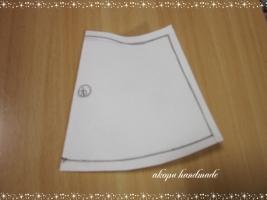 りかちゃんワンピ 型紙