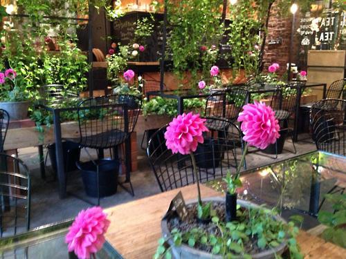 お花に囲まれた大好きなカフェ