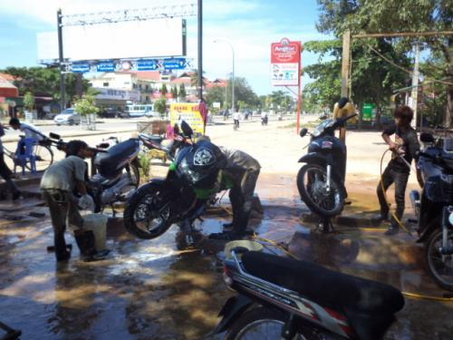 バイクの洗車2