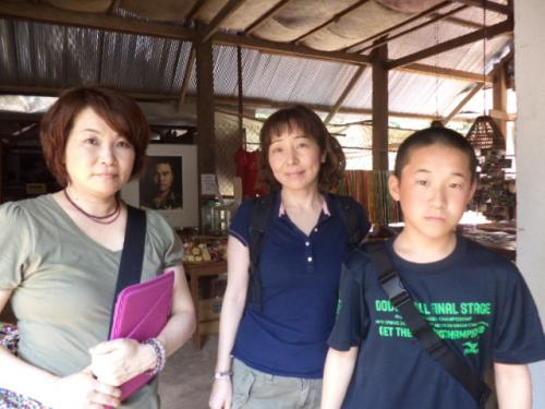 福岡の大野さん母子と義理の妹さん