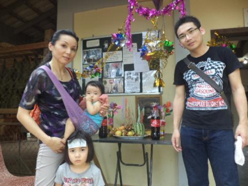 バンコク在住の池田さん家族