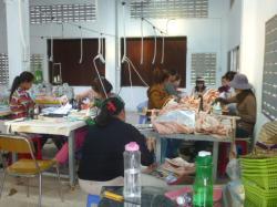 縫製工場内