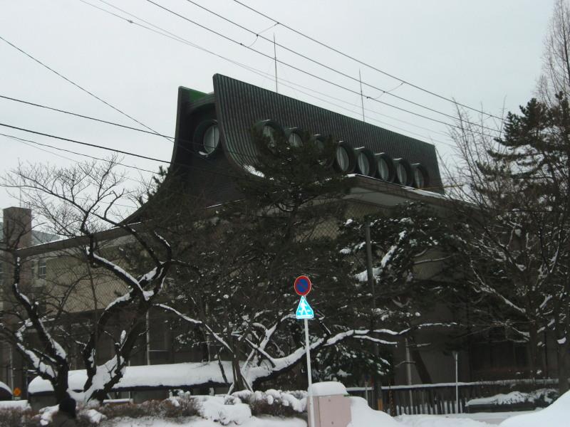 雪中の平野政吉美術館(2012年12月28日-2