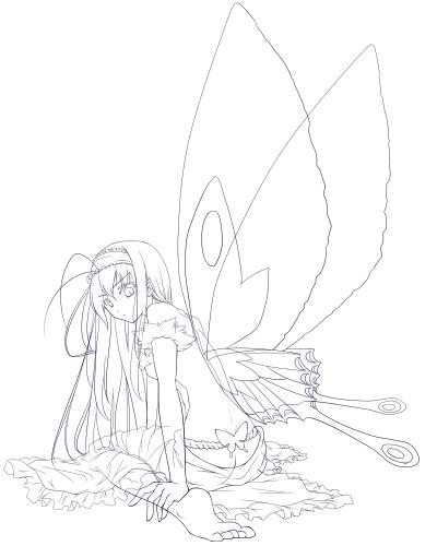 黒雪姫線画