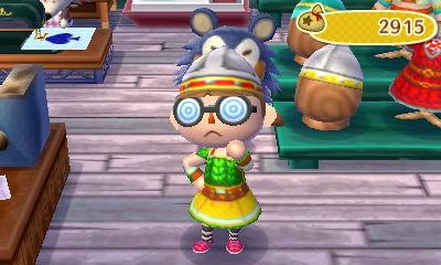 うろこのよろいを着たとび森サブキャラのアルナ