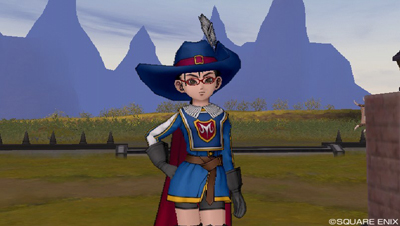 DQXで魔法戦士団制服を着た姿