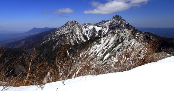 ギボシから望む赤岳主峰群