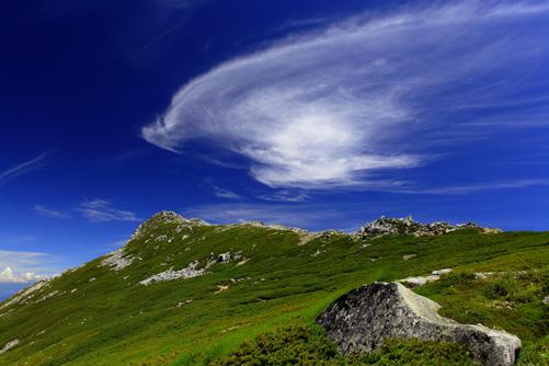 伊那前岳と雲