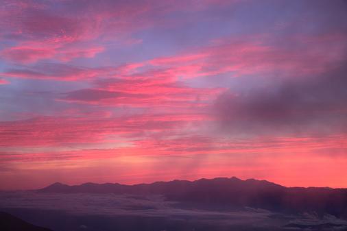 モルゲンロートの八ヶ岳