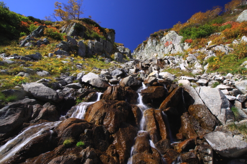 黒川源流の秋景