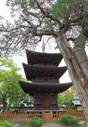 旧国宝・国の重文・信濃国分寺三重塔