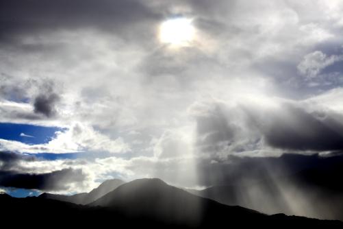 太陽と光芒