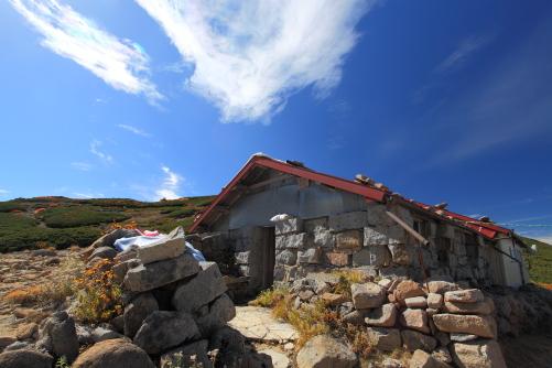 西駒山荘と彩雲