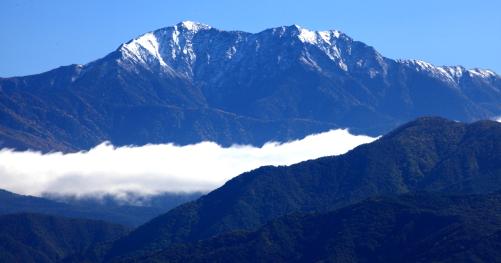 初冠雪の仙丈ヶ岳