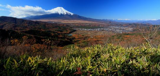 霊峰富士と南アルプス大観