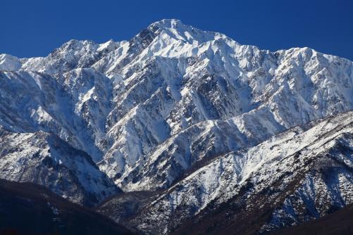 白銀の五龍岳