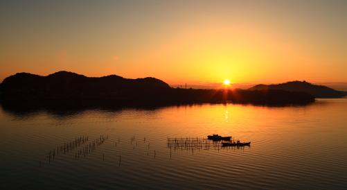 浜名湖のご来光