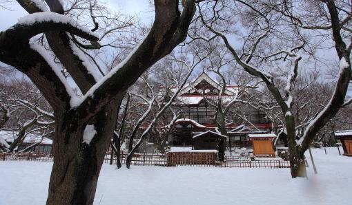 高遠閣雪景色