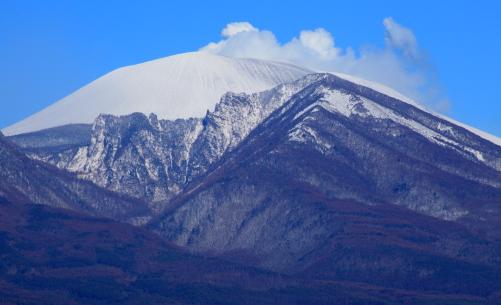 水蒸気を吐く浅間山